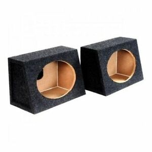Pair-of-New-6X9-Angled-MDF-Speaker-Enclosure-Hatchback-Box-for-Car-Truck-Stereo