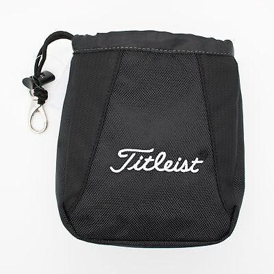 New Titleist Golf Essential Valuables Pouch Black White TA6ESVP-0