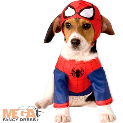 Hund Spiderman Kostüm (Spiderman Dog Fancy Dress Superhero Pet Puppy Animal Halloween Novelty Costume )