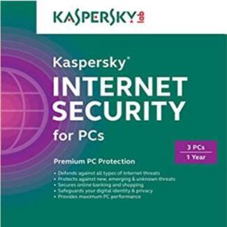 Kaspersky INTERNET SECURITY 2017 for 3 PCs 1 Year for Windows 7