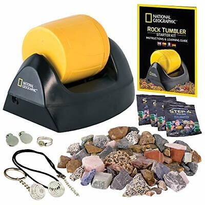 Rock Tumbler Polisher Machine Kit Smooth Stone Maker Gems Collector Kids Science
