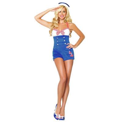 Sexy  Pin Up High Seas Honey Sailor Women's Adult Halloween Costume NEW SZ W MED](High Seas Honey Costume)