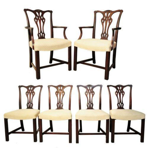 Chippendale dining room chairs ebay for Ebay dining room furniture