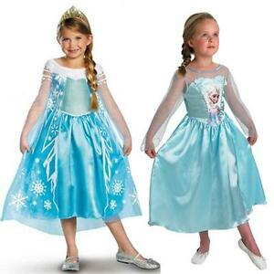 NEW-FROZEN-DRESS-ELSA-ANNA-PRINCESS-DRESS-KIDS-COSTUME-PARTY-FANCY-SNOW-QUEEN