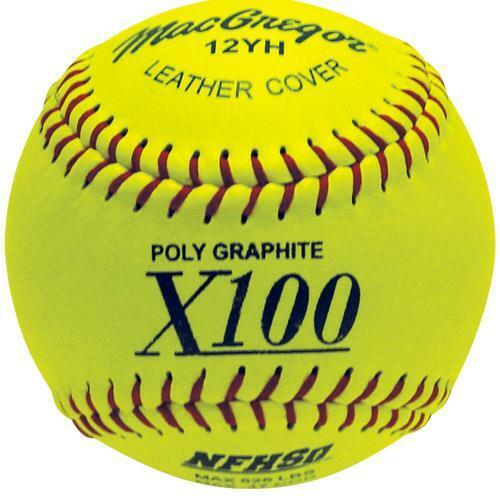 MacGregor NFHS Fast Pitch Softball, 12-inch (One Dozen) MCSB12YH
