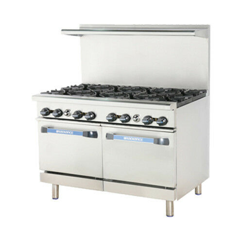 "Turbo Air Tar-8 Radiance 48"" Nat Gas Restaurant Range W/ 2 Standard Ovens"