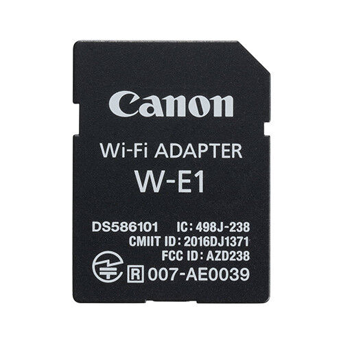 Canon W-E1 Wi-Fi Adapter for EOS 7D Mark II, 5DS, 5DS R Cameras