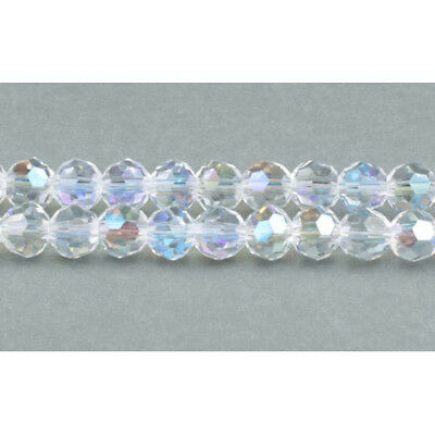 Strand 90+  Clear Czech Crystal Glass 4mm AB Faceted Round Beads GC3544-1