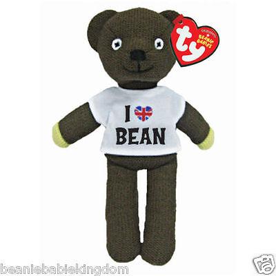"TY Beanie Mr Bean Teddy Bear I Love Bean T'shirt  Soft Toy 9"" - 46204 NEW STOCK"