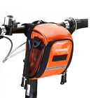 Orange Bicycle Handlebar Bag