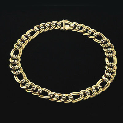 14K Classic Weighty Double Locked Curb Oval Link Necklace / Chain 18 1/4