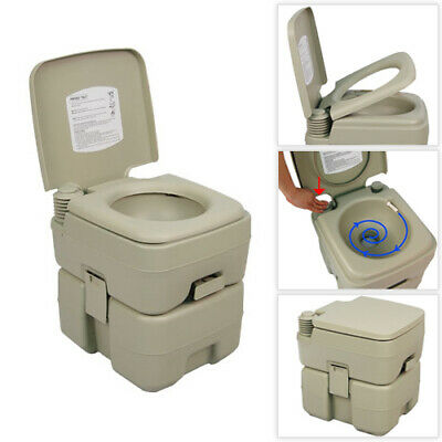 Palm Springs 5.3 Gal Plastic Portable Flushing Toilet Camping Outdoor RV Potty