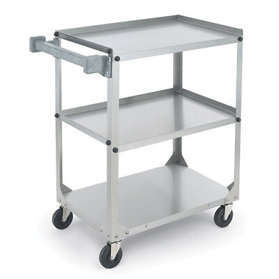 "Vollrath Utility Cart, Medium Duty 300 lb. Capacity, 3 27""Wx17-3/4""D Shelves"