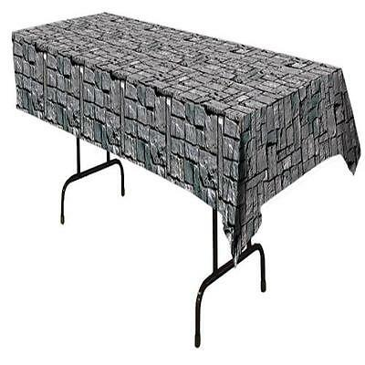 STONE WALL TABLE COVER HALLOWEEN PARTY DECORATION BG54535 - Halloween Decorations Party Rock