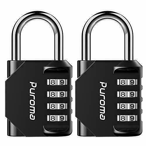 Puroma 2 Pack Combination Lock 4 Digit, for School Gym Locker, Sports Locker