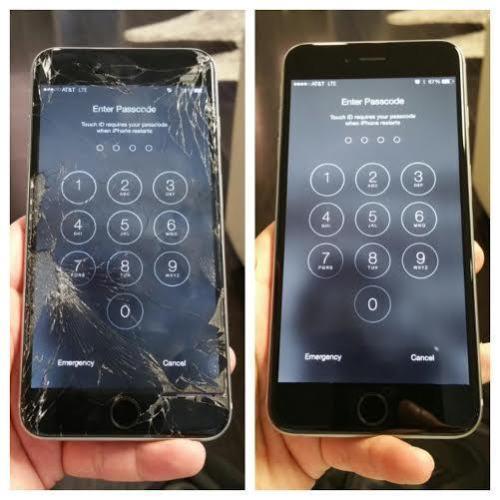 Apple Iphone 7 Plus Cracked Screen Glass Repair Service Oem