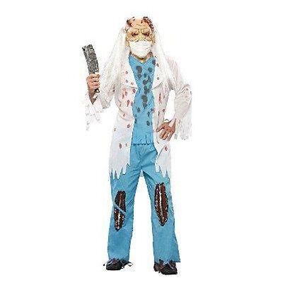 NWt Evil Doctor Costume Shirt Pants Mask Men's Standard OSFM Halloween](Evil Doctor Halloween Costume)