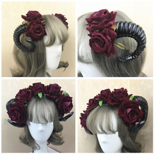 Halloween Gothic Devil Sheep Horn Headband Headdress Cosplay Costume DIY-Prop UK