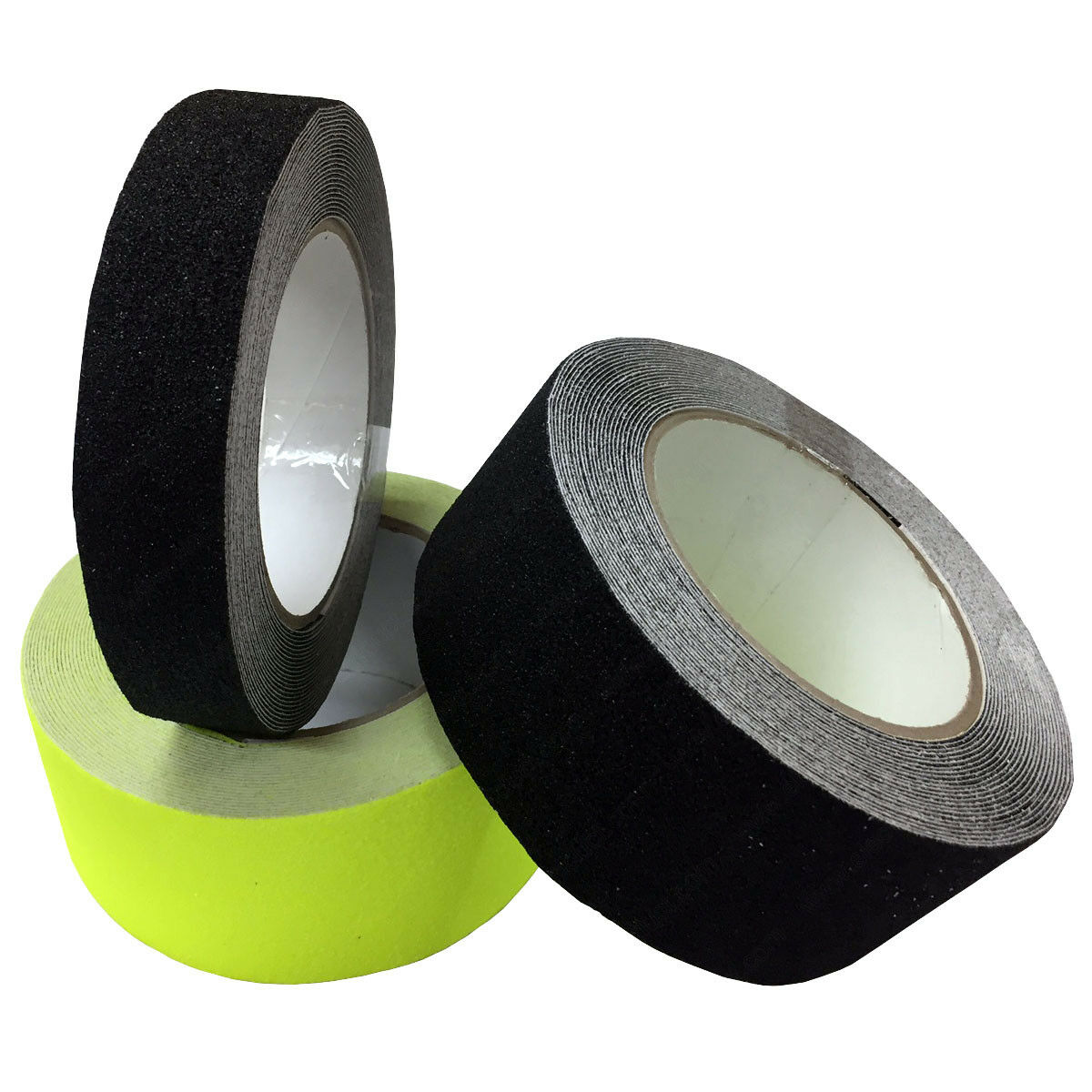 "Anti-Slip Non-Skid Floor Tapes - 1"" - 2"" - Black, Yellow Opt"
