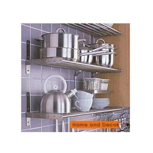 Shelves For Kitchen Wall: IKEA Stainless Steel Wall Shelf