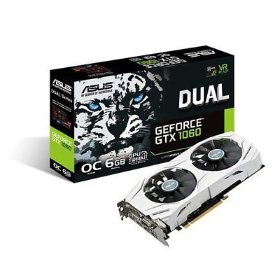 NEW ASUS DUAL-GTX1060-O6G GeForce GTX 1060 6GB GDDR5 Graphics Card