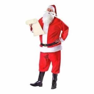NEW, Santa Claus Men's Red Costume Christmas Suit