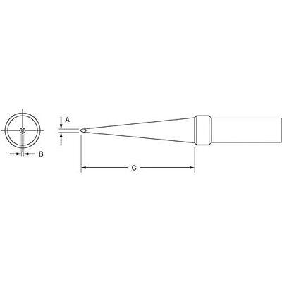 Weller Etk Et Long Screwdriver Solder Tip 1.16mm For Ec1201apes51