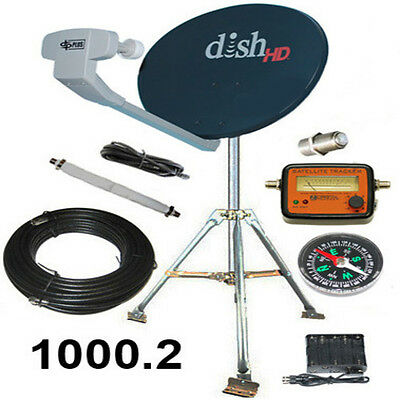 Dish Network Hdtv Portable Satellite Tripod Kit For Rv Tailgater Hd