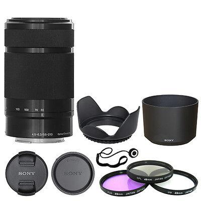 Sony E 55-210mm F4.5-6.3 Lens for Sony E-Mount Black +