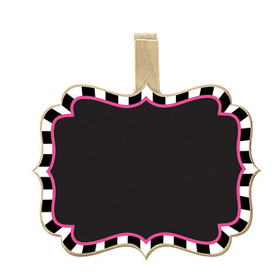 MAD TEA PARTY CHALKBOARD FOOD LABELS (8) ~ Birthday Supplies Clips Buffet Alice (Chalkboard Party Supplies)