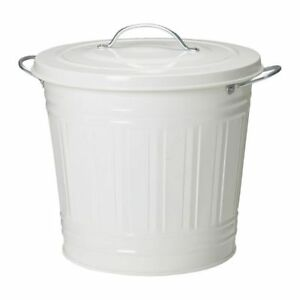 Bin with lid (white)