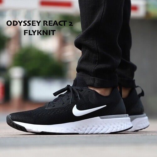Susurro Intuición Devastar  Nike Women's Odyssey React Flyknit 2 Running Shoes Sz 5.5 Black White  Ah1016 010 for sale online | eBay