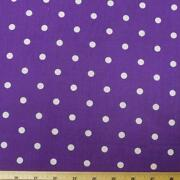 Purple PolyCotton Fabric