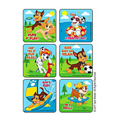 Party Pups Treat Bags - 18 Paw Patrol Pups at Play STICKERS Party Favors Birthday Treat Loot Bags