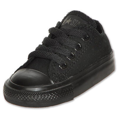 Converse For Toddler (CONVERSE CHUCK TAYLOR ALL BLACK LOW TOP CANVAS FOR BABY AND TODDLERS)
