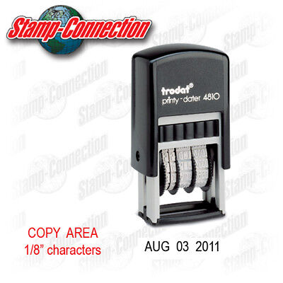 Trodat 4810 Compact Self-inking Date Stamp