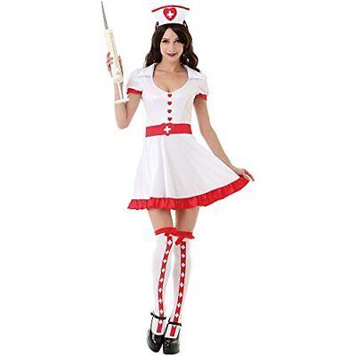 Night Shift Nurse Women's Sexy Halloween Role Play Costume Scrubs, White, Small - Halloween Costume Scrubs