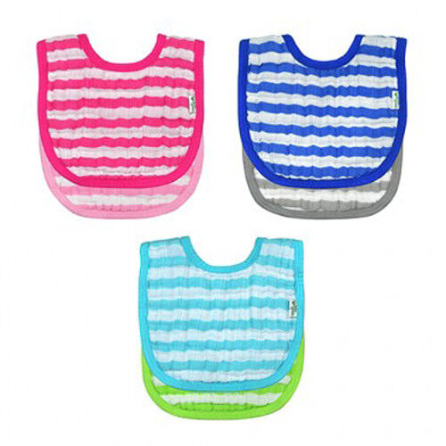 Green Sprouts Organic Cotton Muslin Baby Bibs  Pink Blue or