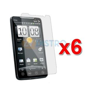 6X CLEAR LCD SCREEN PROTECTOR for HTC SPRINT EVO 4G
