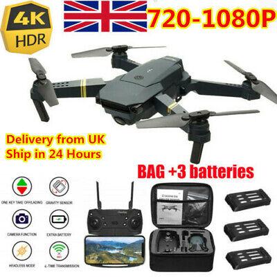 Drone X Pro WIFI FPV 4K HD Camera 3 Batteries Foldable Selfie RC Quadcopter UK~~