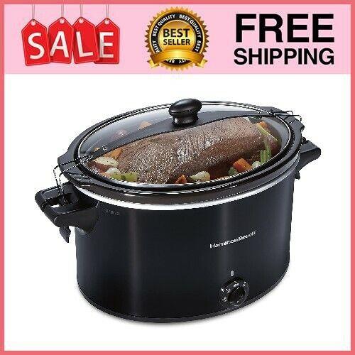 10 Quart Large Slow Cooker Crock Pot Stoneware Kitchen Appliance