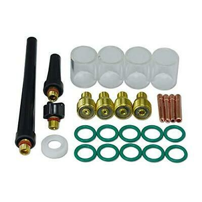 Tig Gas Lens Collet Body Pyrex Cup Kit Db Sr Wp 9 20 25 Tig Welding Torch 26pcs