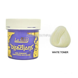 la riche directions semi permanent hair color dye white