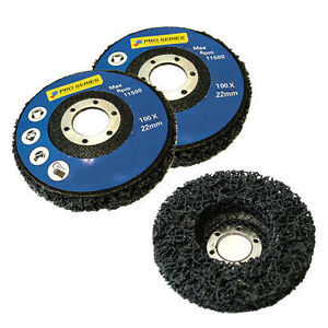 3 PACK PAINT RUST REMOVER ABRASIVE POLY WHEEL DISC - 115MM 41/2