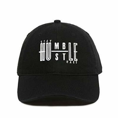 Stay Humble Hustle Hard Baseball Cap Embroidered Cotton Adjustable Dad Hat