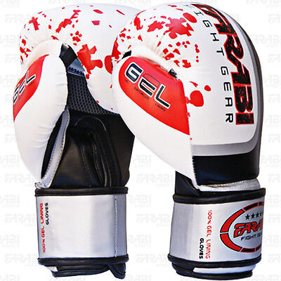 Boxing Sparring Gloves MMA Punch Bag Mitt UFC Fight Training Size - 16oz