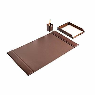 D3437-chocolate-brown-leather-3-piece-desk-set