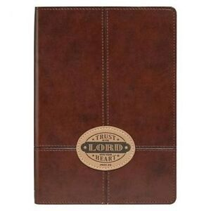 Journal - Lux-Leather - Brown Trust in the Lord Patch by Christian Art Gifts