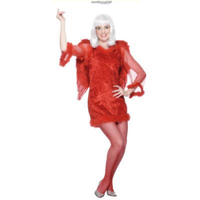 Women's RED HOT ANGEL Christmas Party Xmas Fancy Dress Costume 25621 (Red Angel Kostüme)
