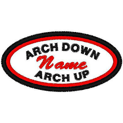 CUSTOM EMBROIDERED DOUBLE BOARDER OVAL PATCH